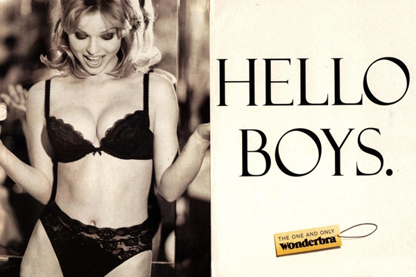 Wonderbra. One and Only (TBWA, 1994).
