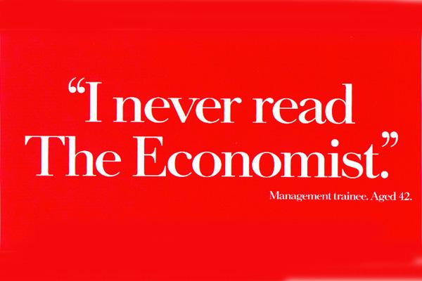 The Economist. Red (AMV BBDO, 1986).