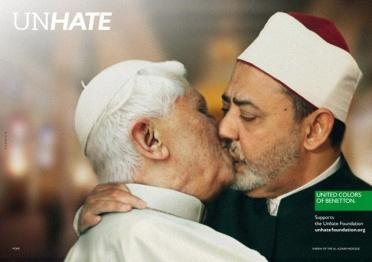 скандальная реклама, папа римский