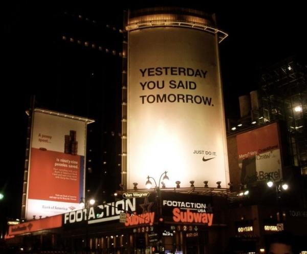Мотивирующие цитаты, креативная наружная реклама, билборд