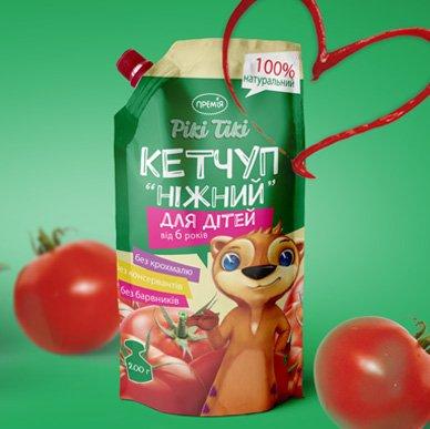 Дизайн упаковки для кетчупу ТМ Рікі Тікі