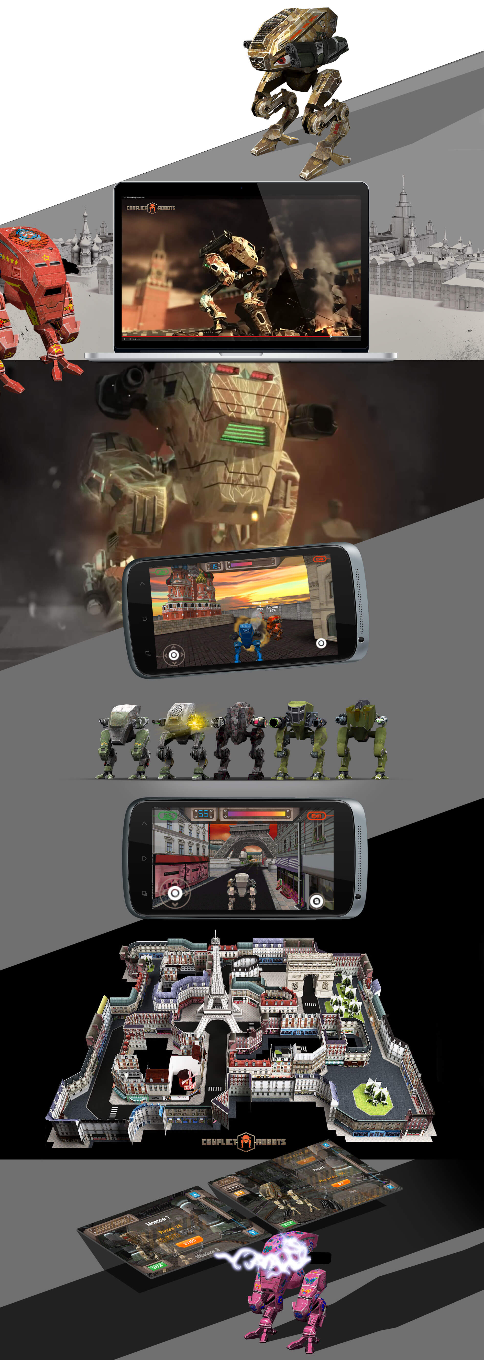 Multiplayer mobile game «CONFLICT ROBOTS»
