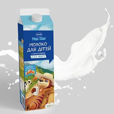 """Дизайн упаковки для молока ТМ """"Рікі Тікі"""""""