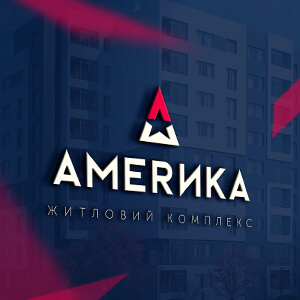 """Development of advertising campaign and logo for residential complex """"AMERICA"""""""