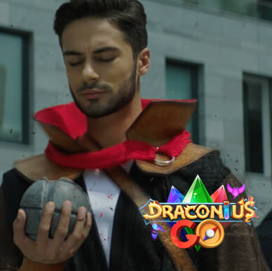 Promo videos for DraconiusGo game by practical effects technology