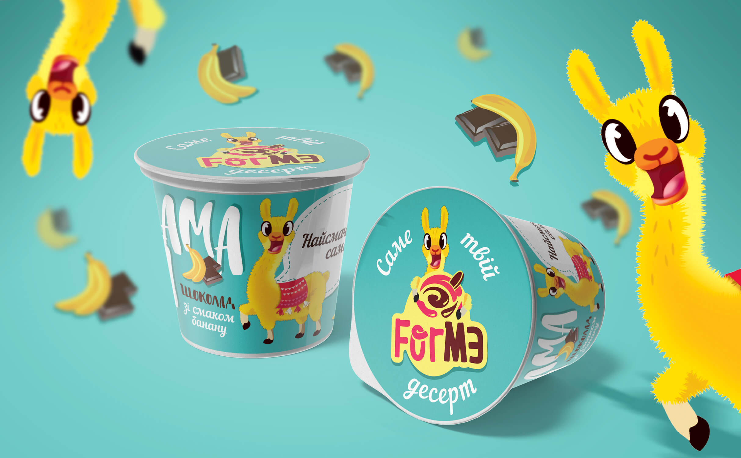 Naming, TM heroes creating, package design of desserts FORME